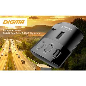 Узнает каждого по «почерку»: радар-детектор Digma SafeDrive T-1000 Signature