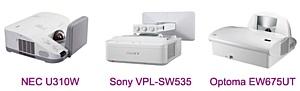 NEC U310W, Sony VPL-SW535, Optoma EW675UT: ������ ������