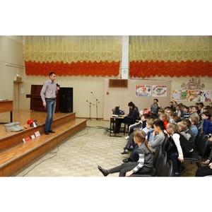 Сотрудники «Ярэнерго» провели урок по электробезопасности для первоклассников школы №48