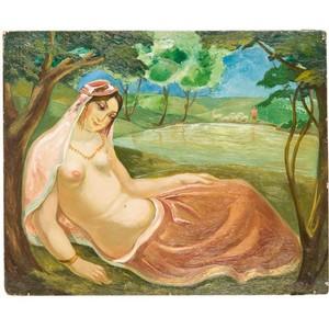 Впервые будет показан шедевр Ладо Гудиашвили «Красавица на берегу озера»