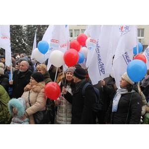 Воронежская команда «Молодежки ОНФ» провела флешмоб на митинге-концерте «Россия в моем сердце»