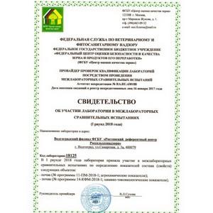 Об участии Испытательной лаборатории Волгоградского филиала в межлабораторных  испытаниях