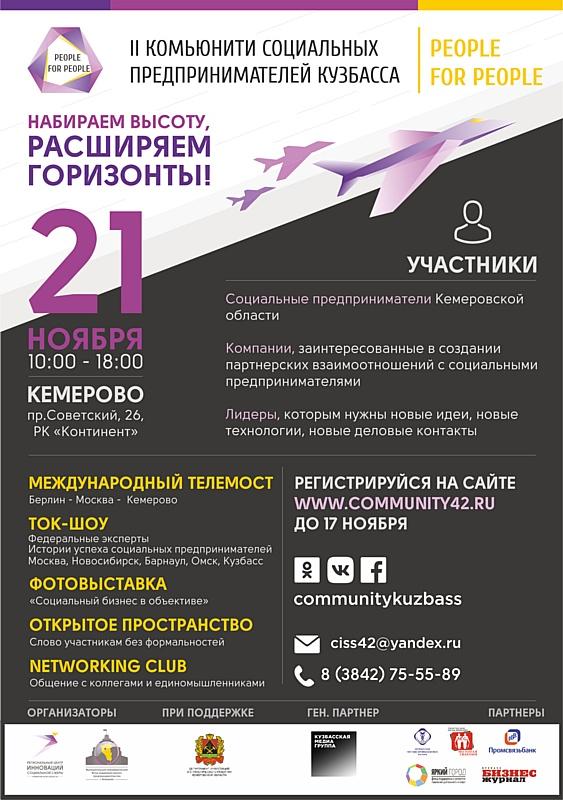 II Комьюнити социального предпринимательства Кемеровской области