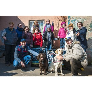Волонтеры «Нестле» провели субботник в школе собак-поводырей в Железнодорожном