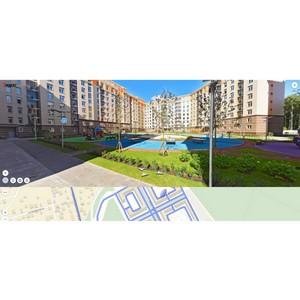 Виртуальную прогулку по ЖК «Рассказово» можно совершить на Яндекс. Карты
