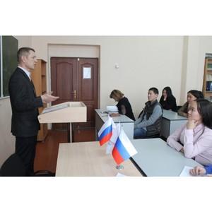 Активисты ОНФ провели в Кызыле урок финансовой грамотности для студентов техникума экономики и права