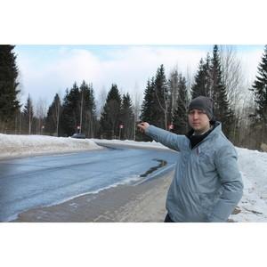 Активисты ОНФ в Коми добились установки знаков на опасном участке трассы в Сысольском районе