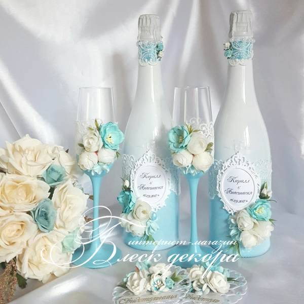 Магазин Блеск декора специализируется на изготовлении свадебных аксессуаров.