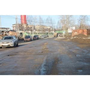 Активисты ОНФ в Коми провели первый в 2018 году рейд по «убитым» дорогам Сыктывкара