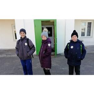 Воронежские активисты ОНФ раздали пешеходам светоотражающие фликеры