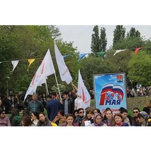Активисты ОНФ приняли участие в торжественном митинге в Махачкале в честь 1 мая