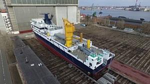 Судовой кран «С2500» установлен на судно проекта 20183 «Академик Александров»