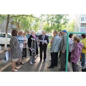 Активисты ОНФ обсуждают с населением Барнаула проекты благоустройства дворов и общественных зон