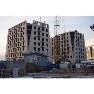 На ЖК «Аlрha» холдинга «Аквилон-Инвест» ведется кладка стен 9-х этажей