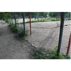 Активисты Народного фронта подняли проблему безопасности спортивных площадок во дворах Воронежа