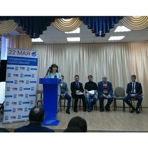 Сопредседатель регионального штаба ОНФ в Алтайском крае участвует в дебатах на праймериз в Госдуму
