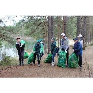 Активисты ОНФ в Ленинградской области убрали свалки на побережье трех озер