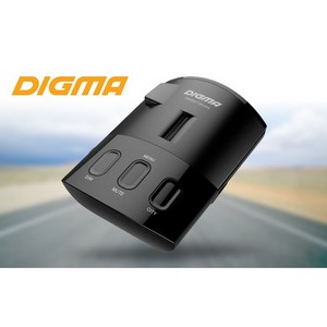 Безопасность на дороге: радар-детектор Digma SafeDrive T-800 GPS