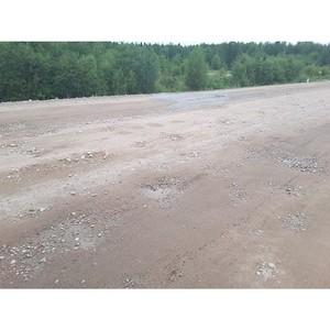 Активисты ОНФ контролируют ситуацию вокруг плохого ремонта подъездной дороги к пгт. Ерофей Павлович