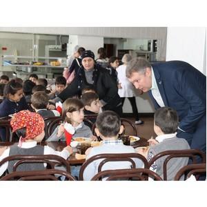 Активисты ОНФ оценили качество питания в школе сельского поселения Дыгулыбгей Кабардино-Балкарии