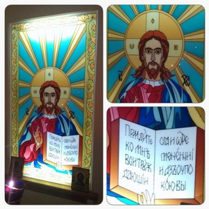 Компания «A.Fedorov» создала витраж в алтарь для храма-часовни Успения Пресвятой Богородицы