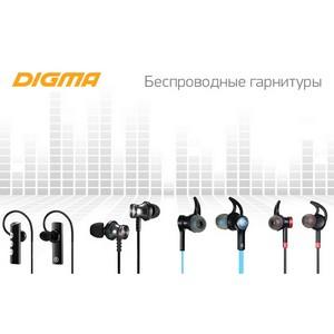 Музыка без проводов: новые Bluetooth-гарнитуры Digma