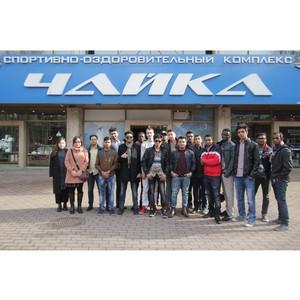 Первая группа иностранных туристов в «Чайке»
