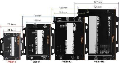 Самый маленький 4K HDMI HDBaseT Удлинитель Aten VE811 - Мощный и незаметный
