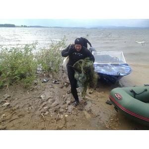 """ел¤бинские активисты ќЌ' провели серию экологических меропри¤тий на озере јргази"