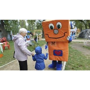 Робот Вольтик на семейном благотворительном празднике «Вовка – морковка»