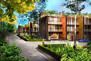 В отделке таунхаусов поселка Futuro Park будут использованы экологичные материалы