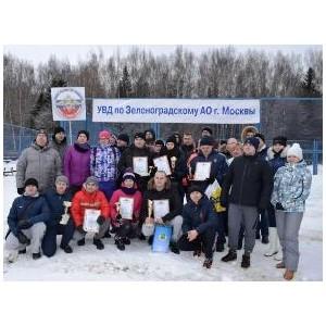 В Зеленограде прошел Зимний спортивный праздник среди полицейских