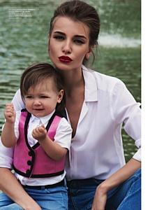Подрастающая красота: первая съемка дочери Дарьи Коноваловой