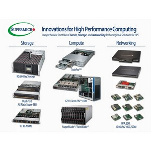 Компания Supermicro® представляет широкий спектр решений для HPC-суперсерверов
