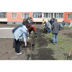 Активисты ОНФ высадили сквер в центре Саранска