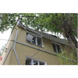 Активисты ОНФ призвали власти исправить последствия некачественного капремонта дома в Воронеже