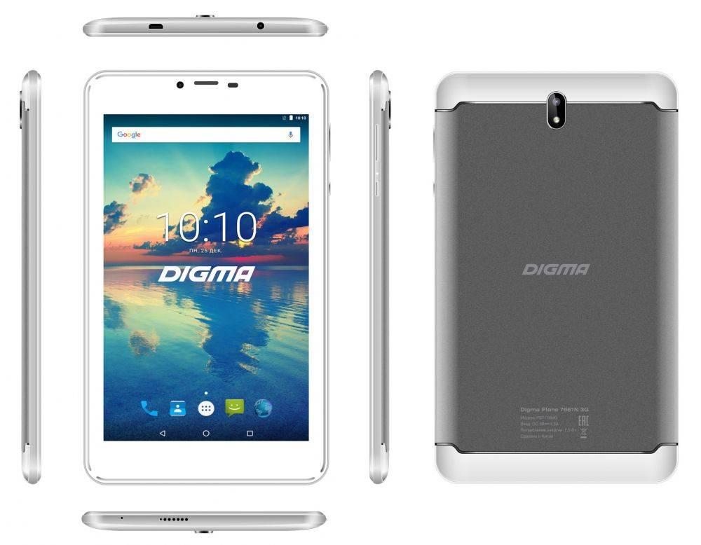 Plane 7561N 3G: яркая и доступная новинка в семействе планшетов Digma