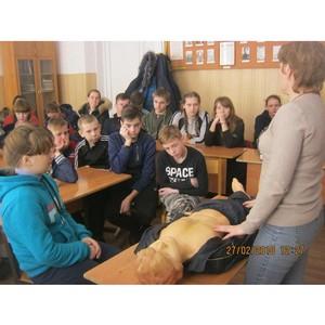 Сотрудники Тамбовэнерго провели занятие по электробезопасности в школе Инжавинского района