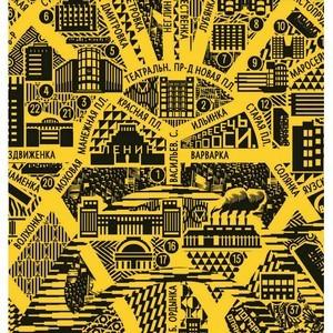 Первая агитационная карта конструктивистской Москвы от МКАДа и до МКАДа