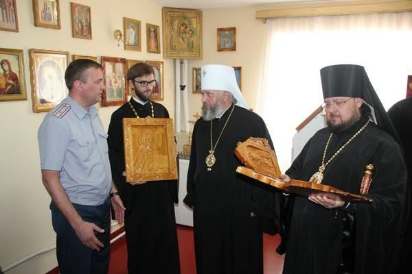 В ИК-41 Кемеровской области торжественно открыта звонница при храме Вознесения Христова