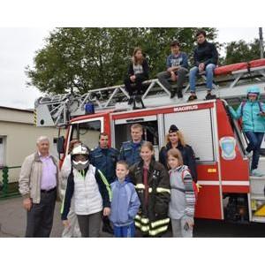 Женский совет УВД Зеленограда в честь Дня Знаний организовал для детей экскурсию в пожарную часть
