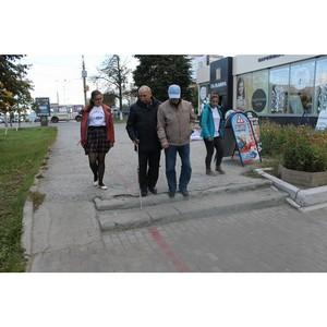 Активисты ОНФ оценили степень доступности городской среды для инвалидов в Кургане