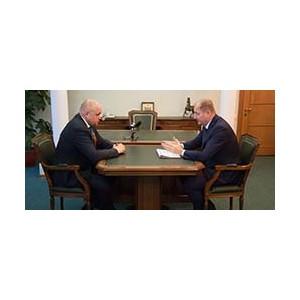 Генеральный директор МРСК Сибири  Виталий Иванов встретился с главой Кузбасса Сергеем Цивилёвым