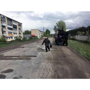 В Ковылкине ремонтируют дороги, отмеченные на карте ОНФ