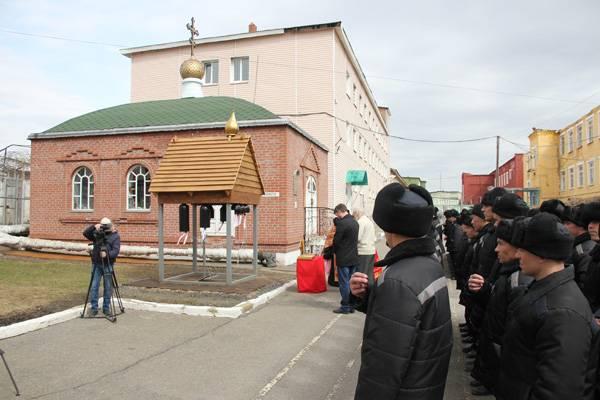 В кемеровской ИК-5 открыта первая в системе кузбасского ГУФСИН звонница