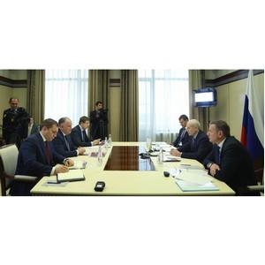 Встреча Президента РБ Рустэма Хамитова и гендиректора «Вертолетов России» Александра Михеева