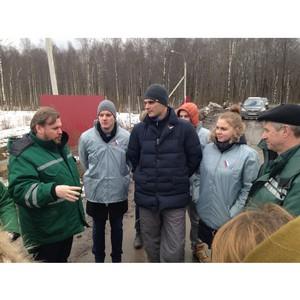 Активисты ОНФ в Санкт-Петербурге провели проверку мусорного полигона «Новоселки»