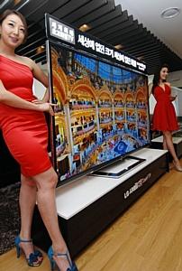 LG выпускает первый в мире 84-дюймовый 3D-телевизор UD.