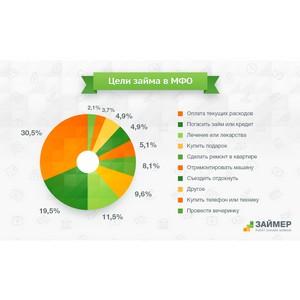 Треть заемщиков берут онлайн-займы для оплаты текущих расходов