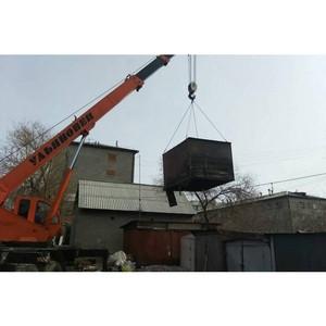 В Улан-Удэ убирают нелегальные гаражи